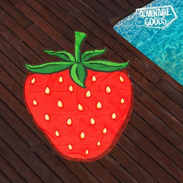 Serviette de Plage Fraise Adventure Goods GalaxiShop