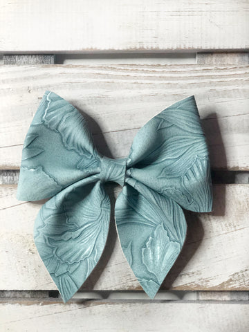 Powder blue sailor bow