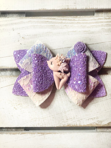 Pink Deer Clay Bow