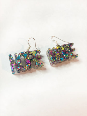 Adult Earrings - Glitter Colours