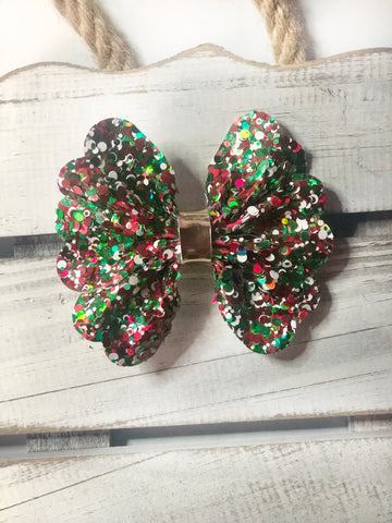 Christmas Frill Pinch Bow