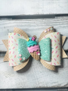 Ice cream Clay Bow