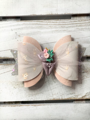 Purple Deer Clay Bow