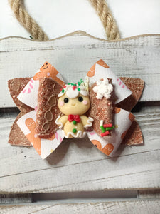 Gingerbread clay Bow