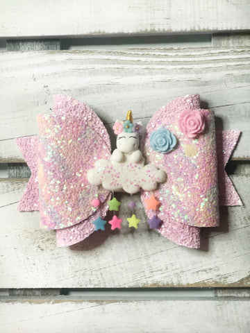 Unicorn Clay Bow