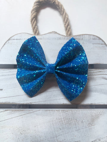 Blue Neon Petite Pinch Bow