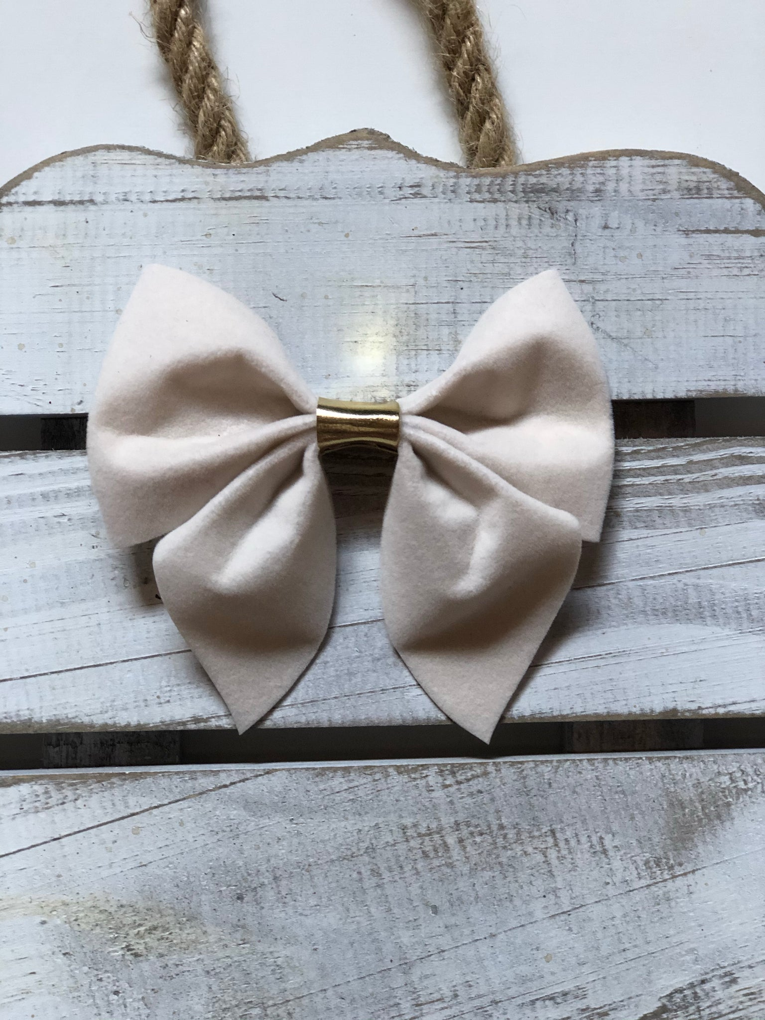 Velvet White Sailor Bow