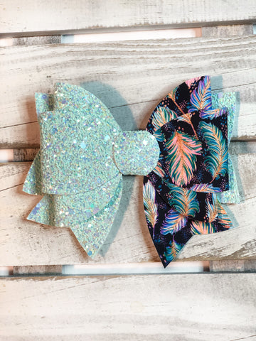 Bohemian Feathers Classic Bow