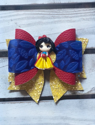 Snow White  Clay Classic Bow
