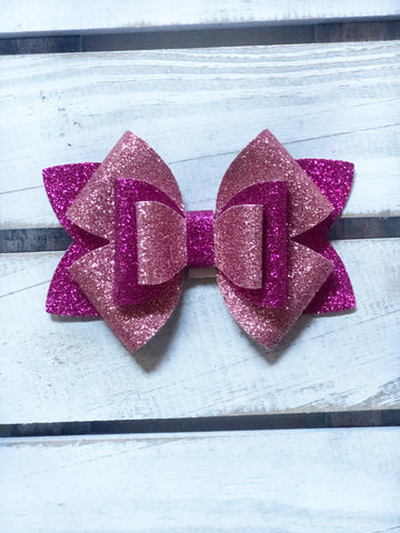 Pink Lilly Star  Bow