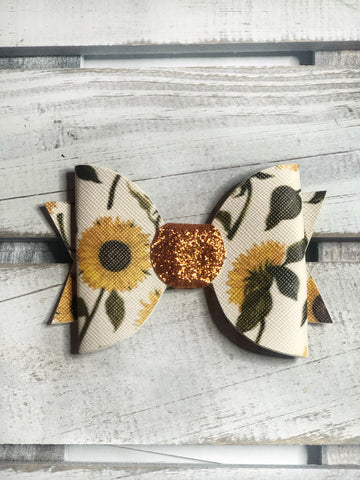 Sunflower Baby Bow
