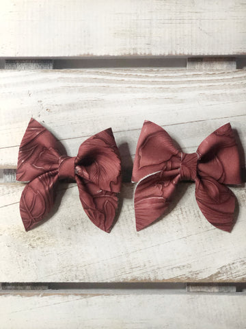 Maroon sailor Pigtail Set