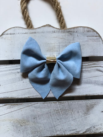 Velvet Baby Blue Sailor Bow