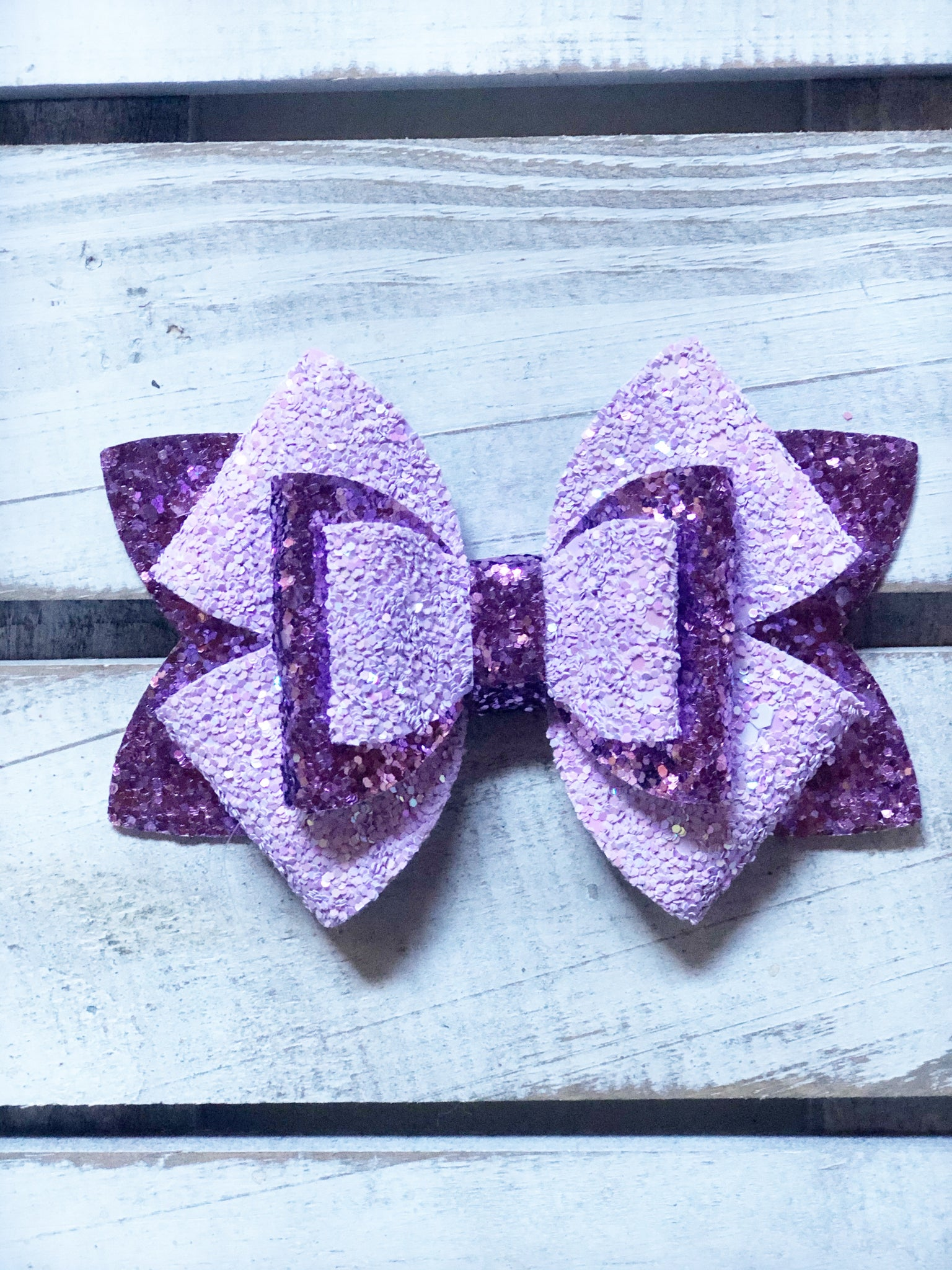 Purple Lilly Star  Bow