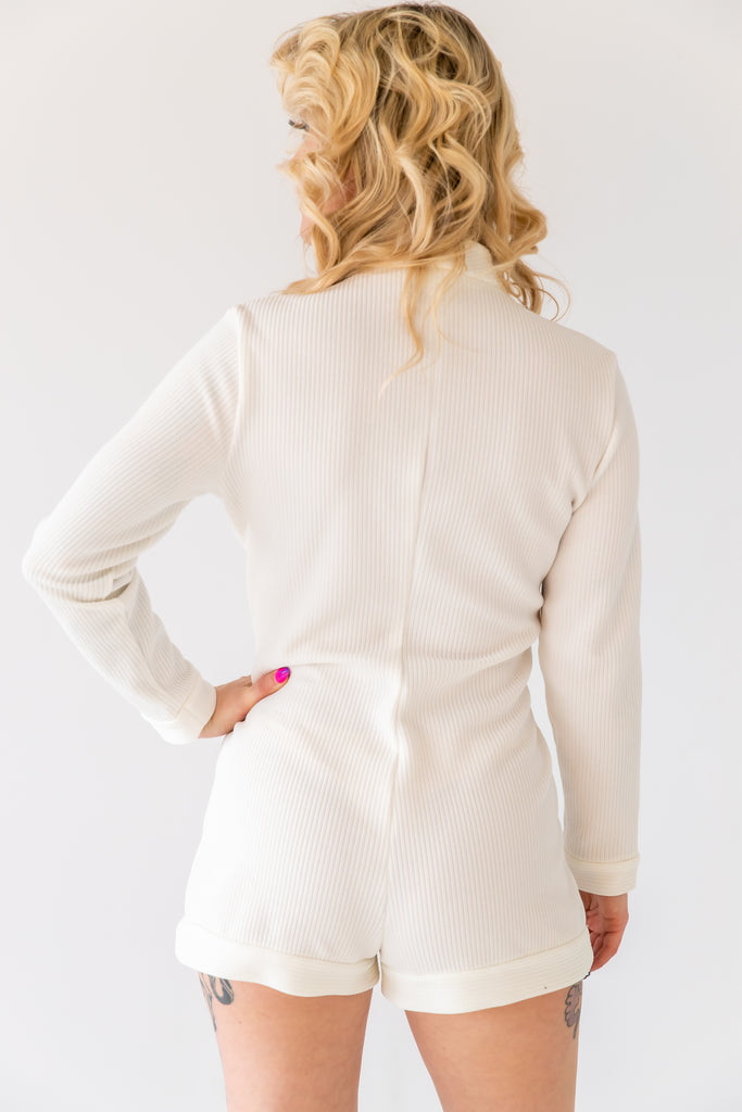 1960's White go-go dancer Jumpsuit