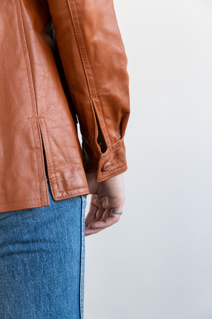 1970's Dead Stock BRIMACO Butterscotch Leather jacket