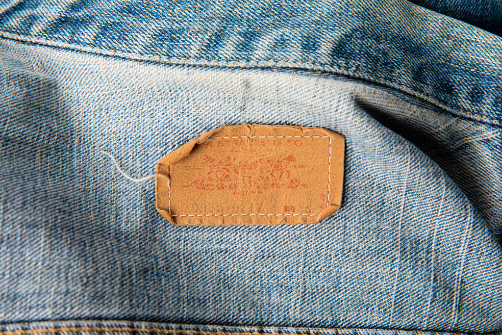 1970's Vintage Levi's Orange Tab Mid Wash Denim Jean Jacket