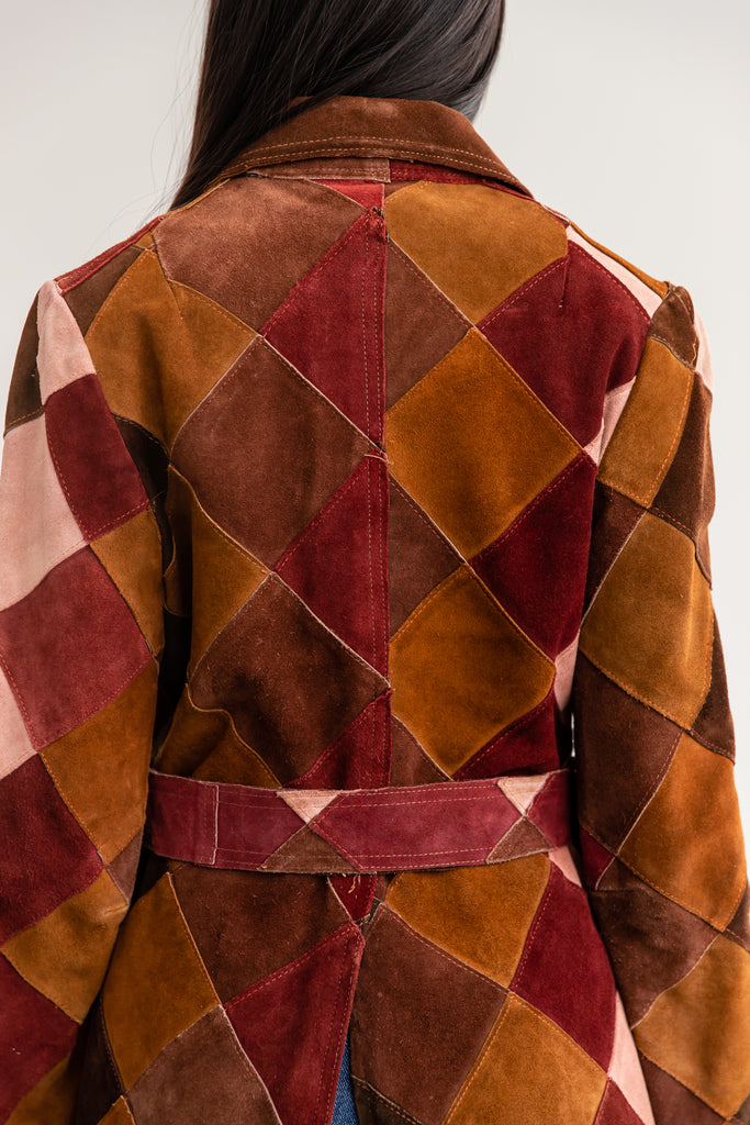1970's Suede Patchwork Jacket, By Jonathan Legault High Gear