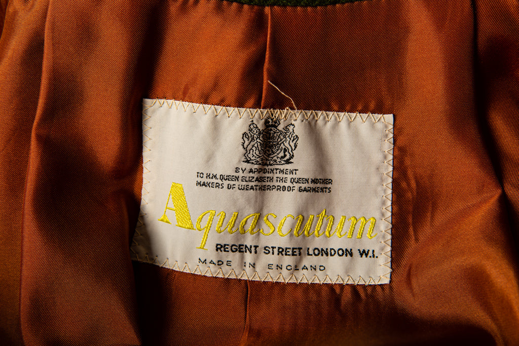 1980's AQUASCUTUM Regent Street London Made In England Wool Trench Coat