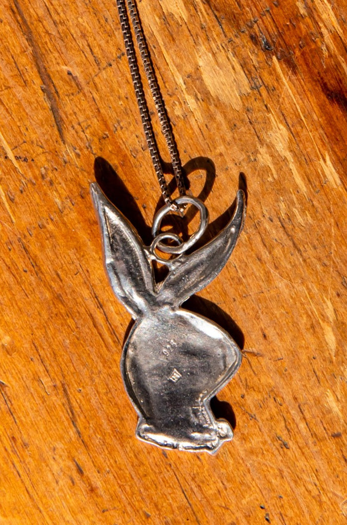 1980's Playboy Pendant Necklace | Sterling Silver 925