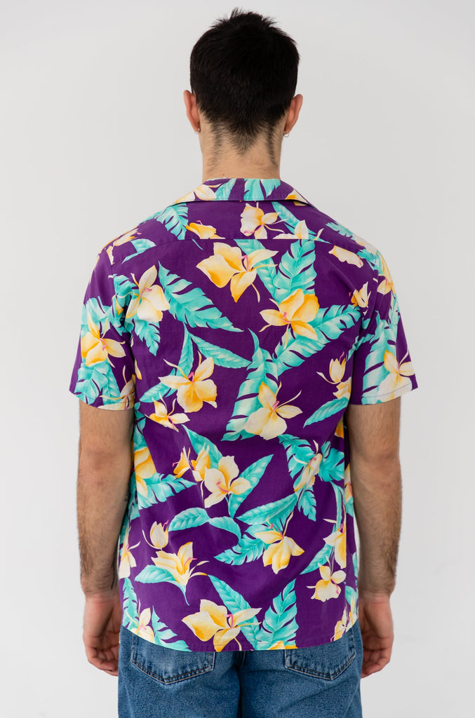 1980's Tropical Cotton Vacation Shirt