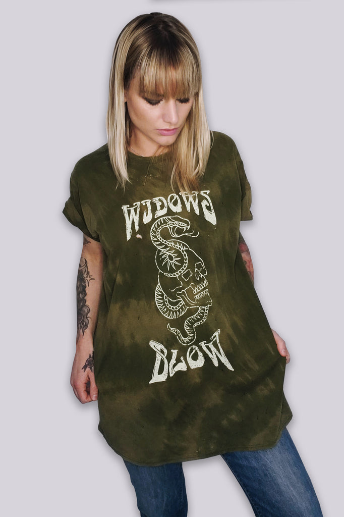 Widow's Blow O.G. Distressed & Sea salt Acid washed T-shirt