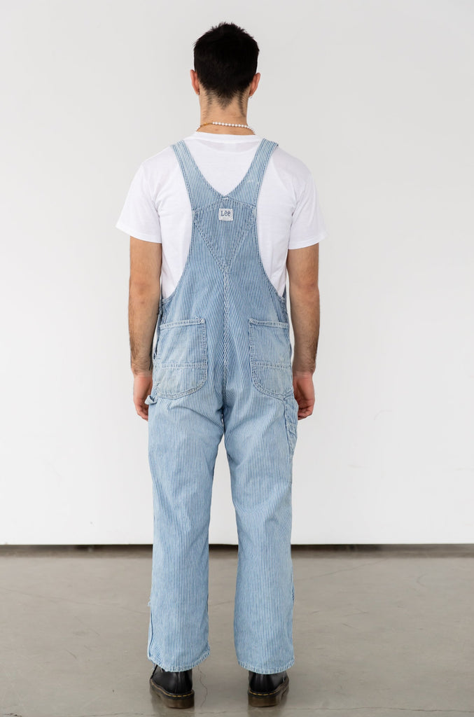 Distressed & Soft 1960's LEE Hickory Stripe Overall