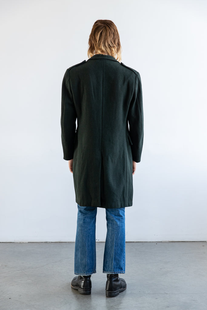 1969 Military Long Winter Wool Overcoat