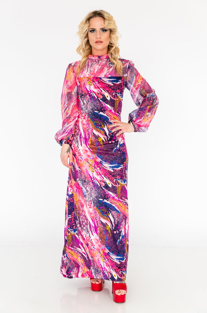 1970's DON LUIS De Espana Maxi Dress