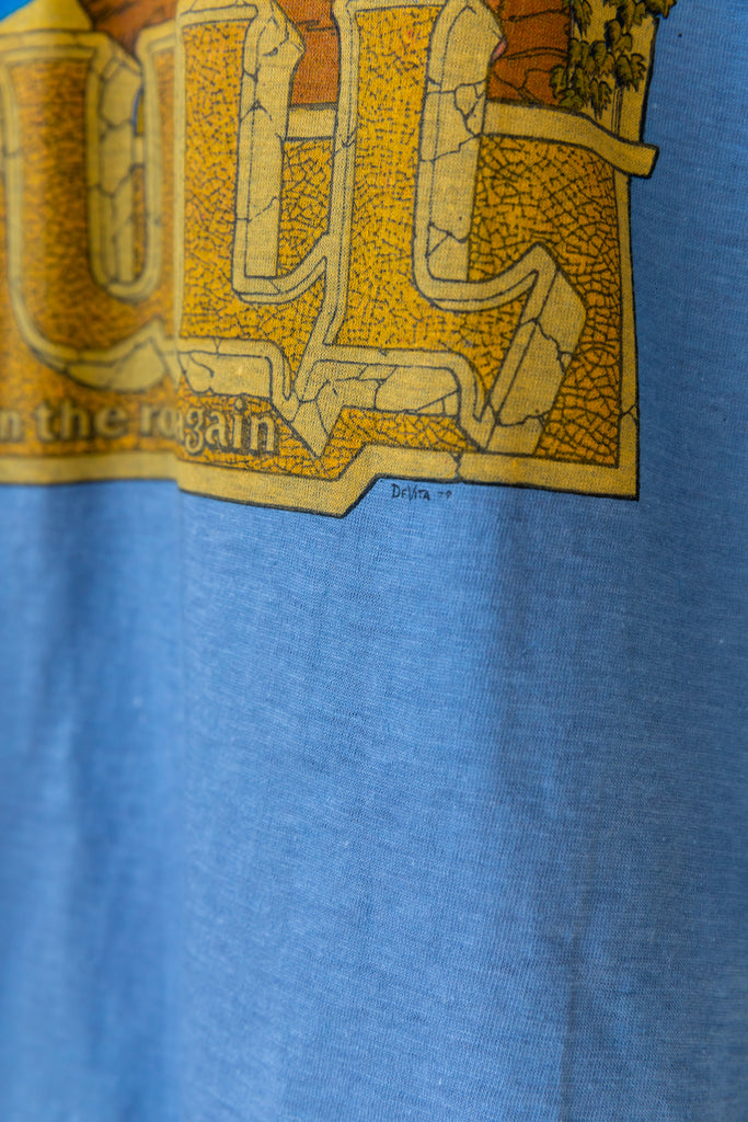 1979 Jethro Tull : On Road Again tour Blue T-Shirt