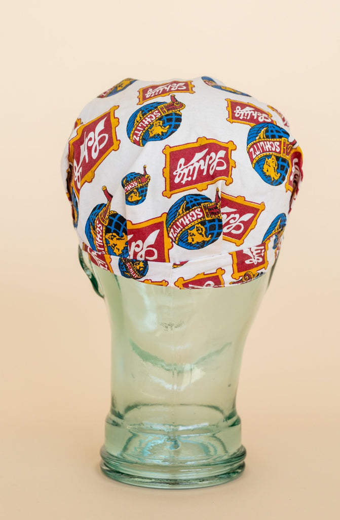 1970's Schlitz Beer Trucker Hat All Over Print Logo Cap