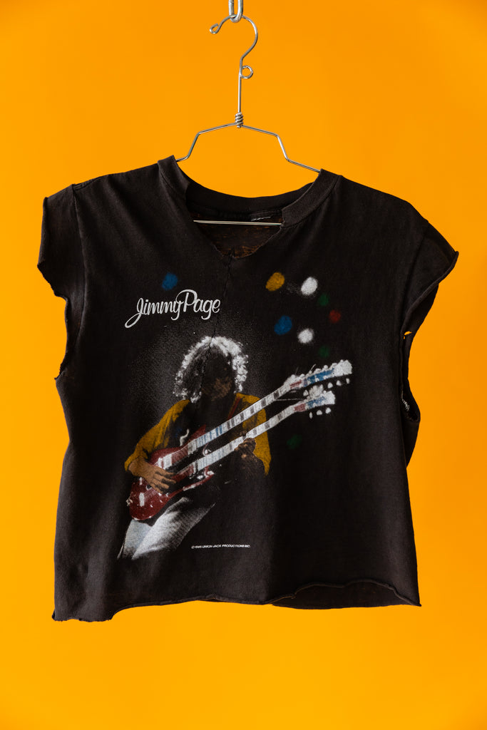 1985 Jimmy Page - The Firm North American Tour Cropped T-Shirt
