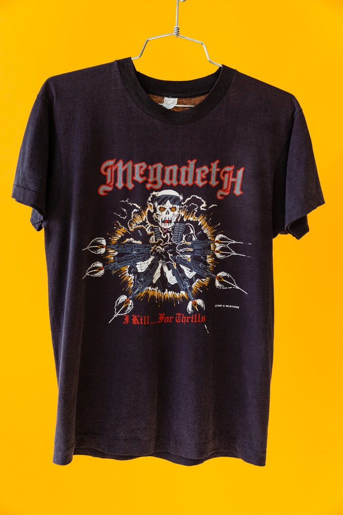 1986 Megadeth Dave Mustaine - I kill For thrills Tour T-shirt