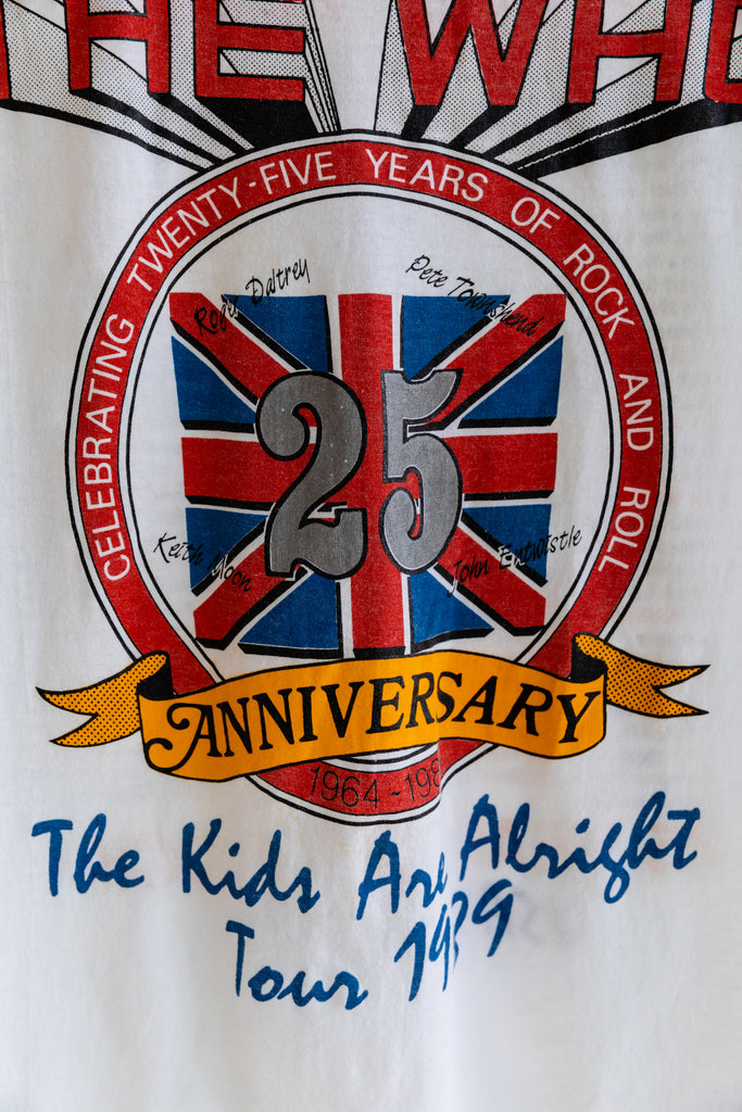 1989 The Who  25th Anniversary USA Tour - The Kids Are Alright T-Shirt