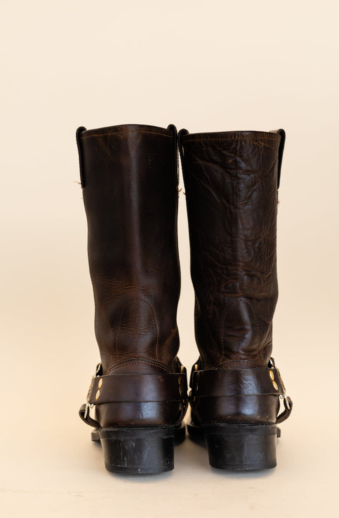 1990's Harley-Davidson Brown Leather Harness Boots (size women 6.5)