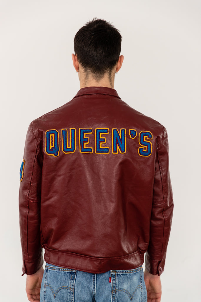 Varsity Leather Jacket From Queen's University Faculty of Arts & Science: Class of 1994