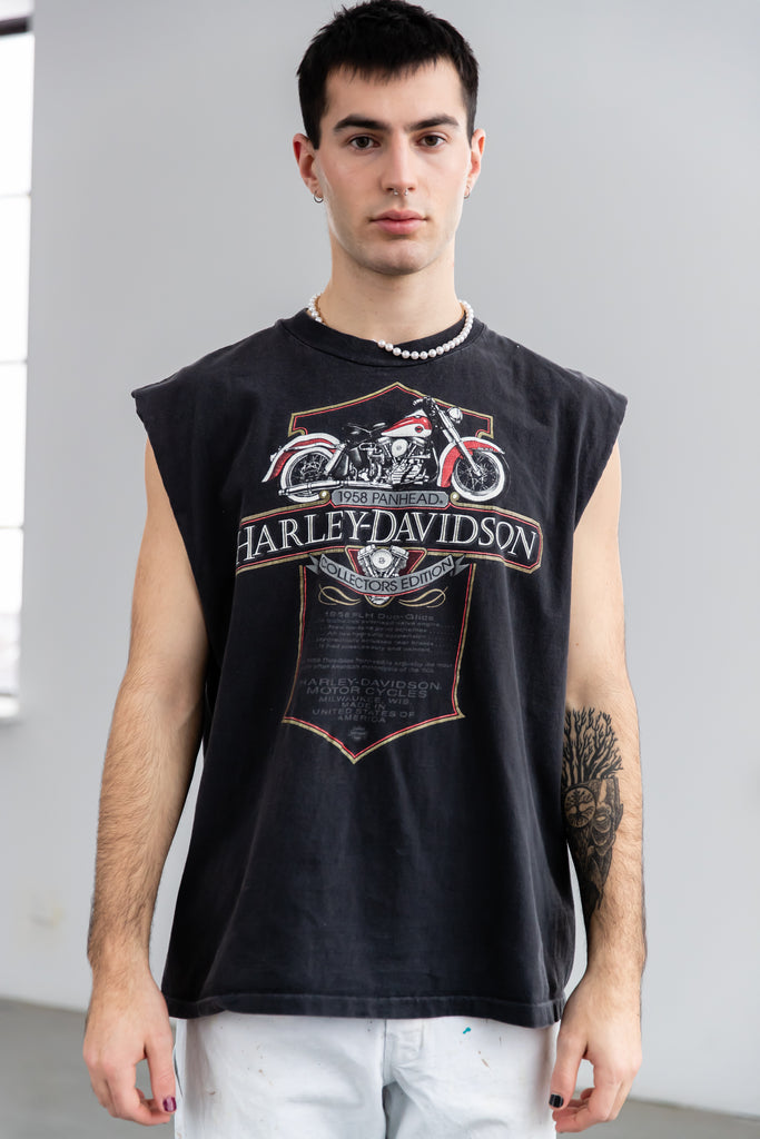 1990's Harley-Davidson 1958 Panhead Collectors Edition Tomahawk Wisconsin Sleeveless Shirt