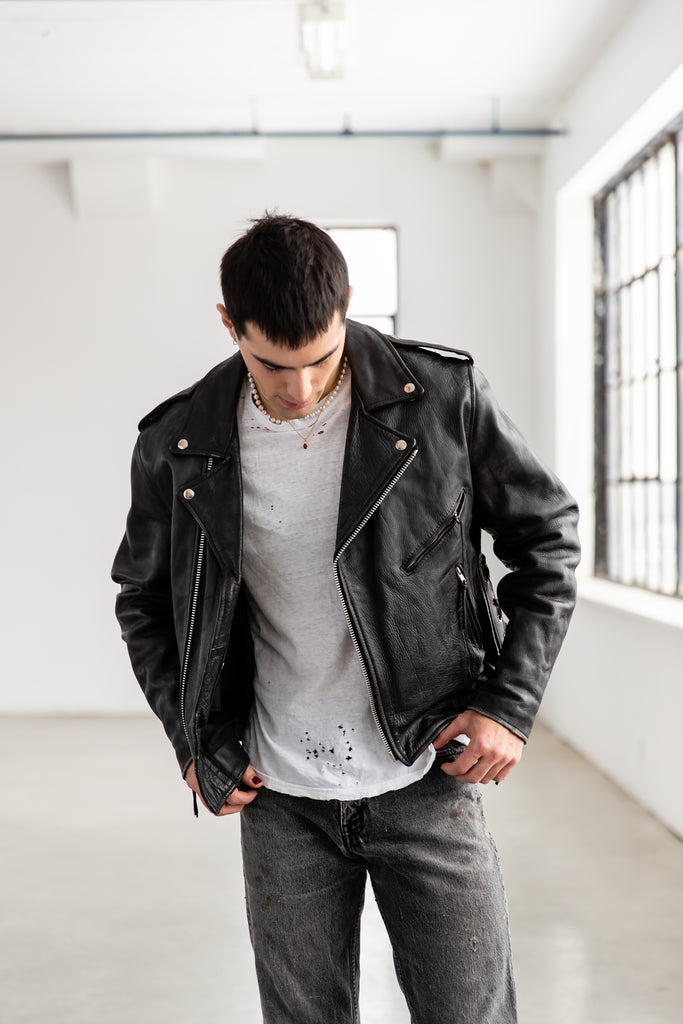 1990's Leather Moto Biker Perfecto Jacket by Select Leather