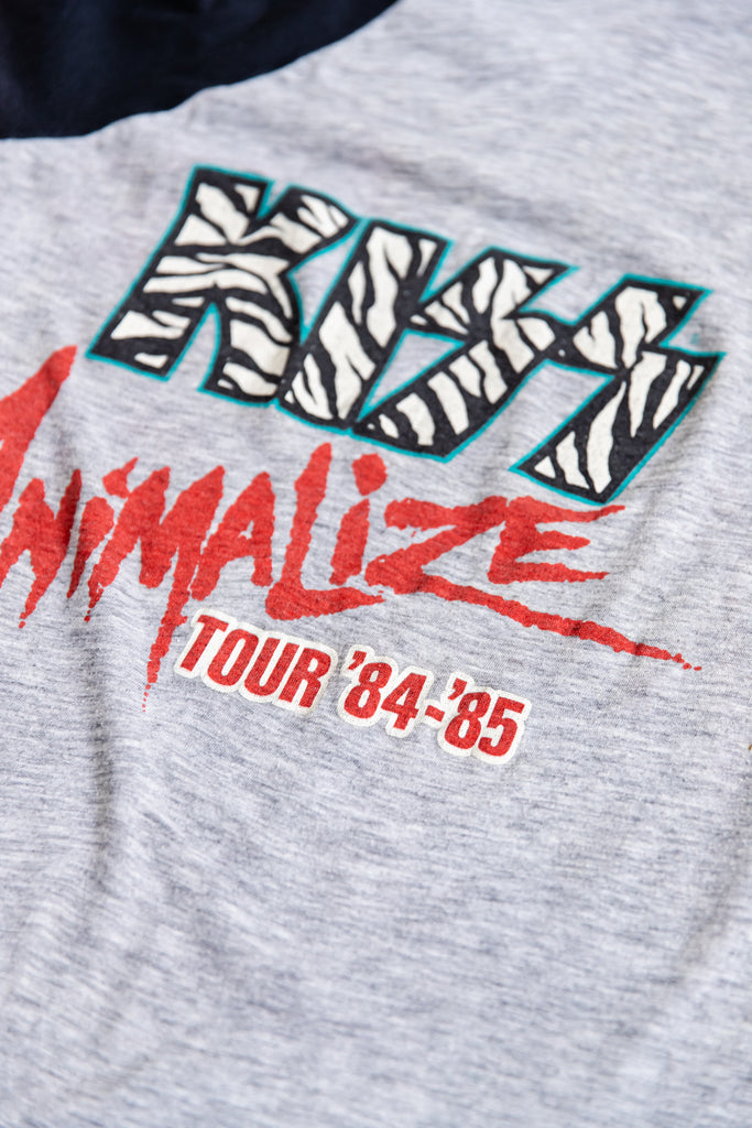 1984 KISS ANIMALIZE TOUR '84-85 RAGLAN SHIRT