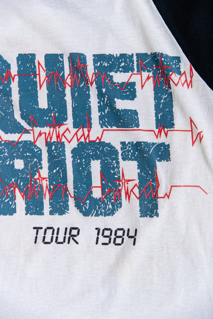 1984 QUIET RIOT CONDITION CRITICAL RAGLAN SHIRT