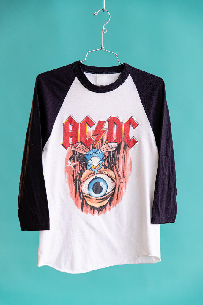 1985 AC DC - FLY ON THE WALL TOUR RAGLAN SHIRT