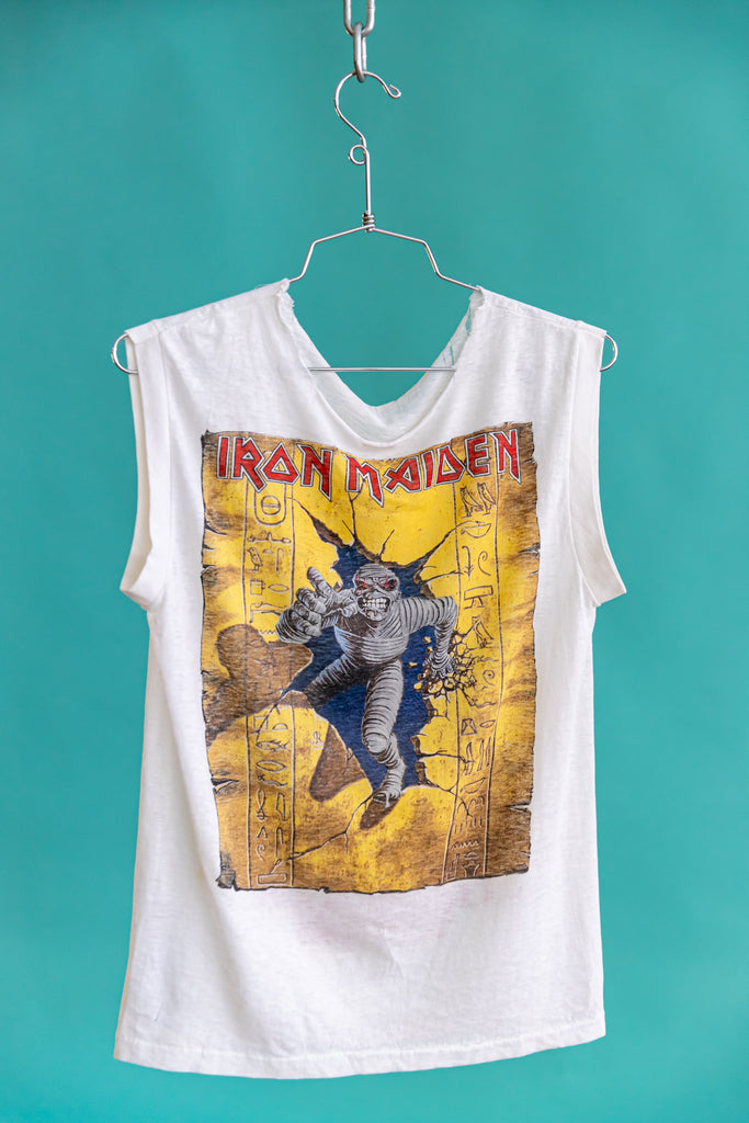 Paper Thin: 1985 IRON MAIDEN : WORLD SLAVERY TOUR 1985 - SLEEVELESS SHIRT