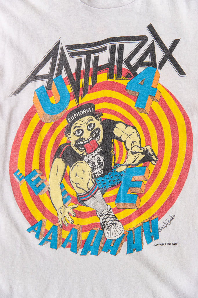 1988 ANTHRAX STEP INSIDE THE ROAD TO EUPHORIA AMERICAN TOUR T-SHIRT