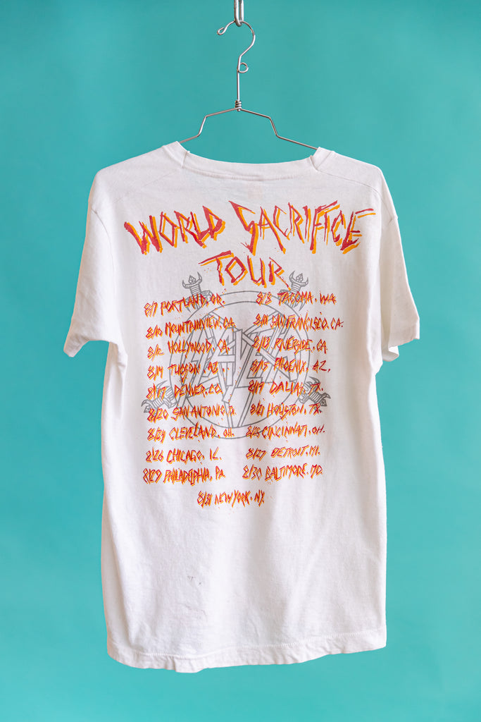 RARE: 1988 SLAYER WORLD SACRIFICE TOUR T-SHIRT