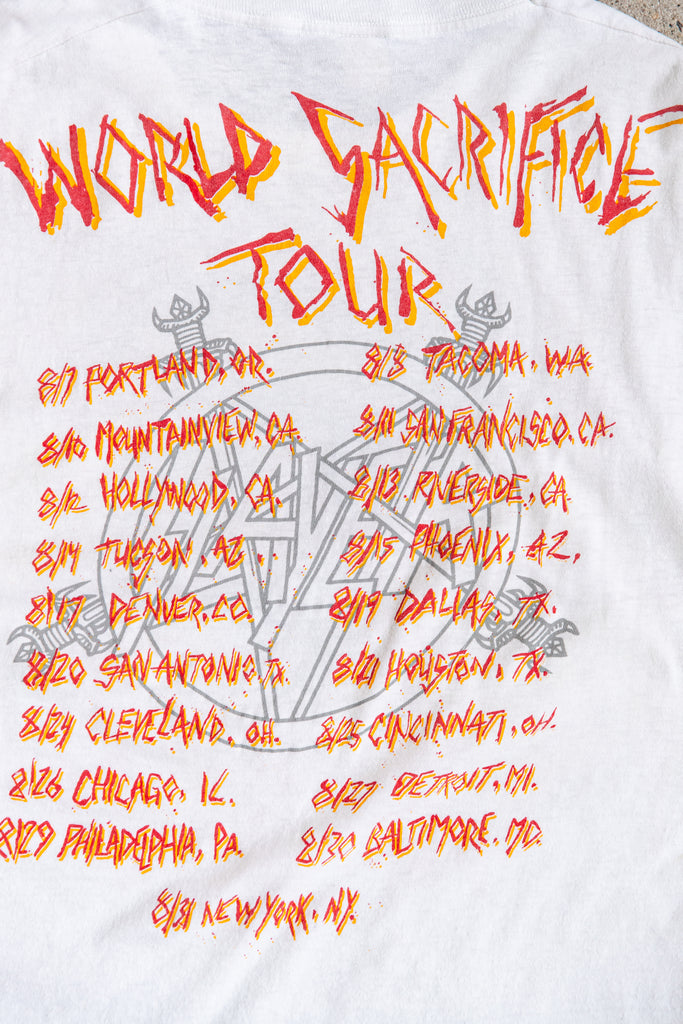 RARE! 1988 Slayer World Sacrifice Tour T-Shirt