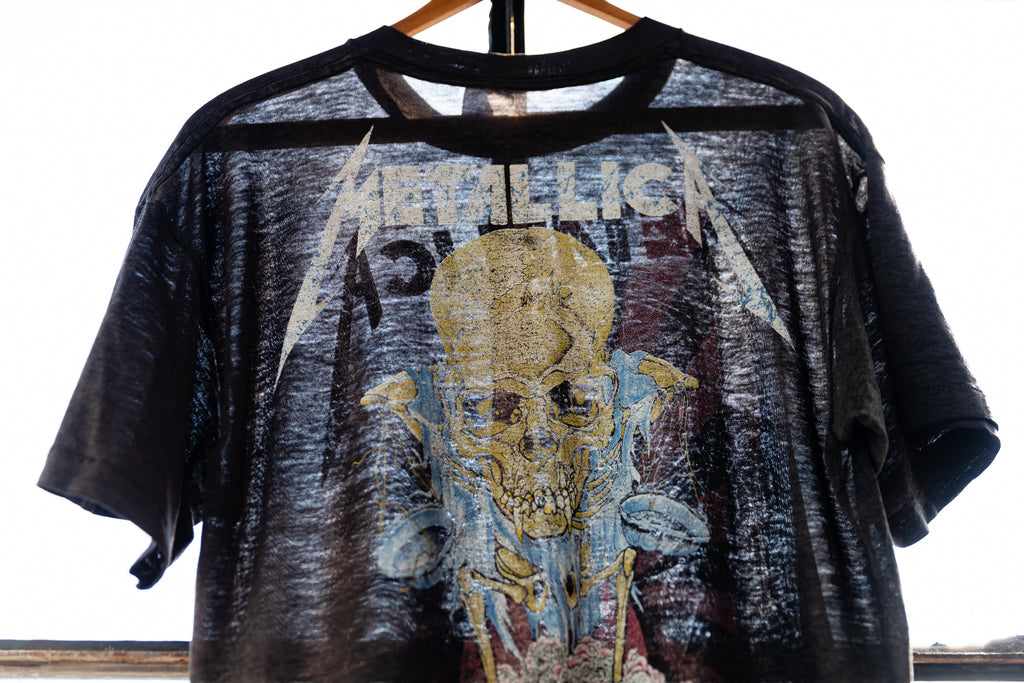 Paper Thin RARE '89 Metallica Doris- Pushead Double Sided Brockum 50/50 T-Shirt
