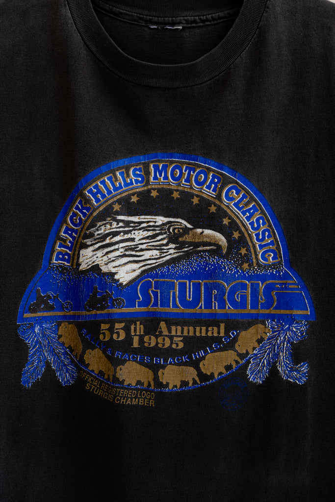 90's, Vintage, Sturgis 55th annual, Black Hills motorcycle rally, eagle, Single Stitch, Sleeveless Shirt