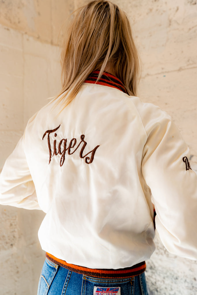 980's Vintage, Tigers St-John's City Champs, cream, Shanter Sportswear Club, Bomber Nylon Jacket