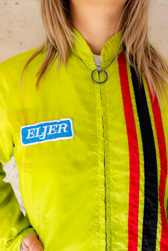 1980's Vintage, Gas Station ELJER Sportswear Windbreaker Jacket (Men's Small)