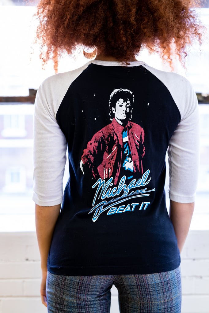VERY RARE : Vintage 1980 Michael Jackson, Thriller, Baseball t-shirt